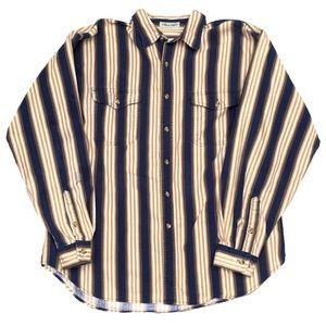 Eddie Bauer Striped Long Sleeve Button Up